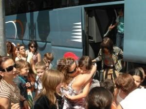 Niños ucranianos a su llegada a Ciudad Real. Junio 2008